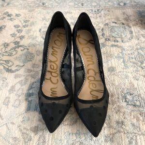 Sam edelman hazel black polka dot heels